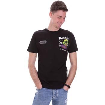 Îmbracaminte Bărbați Tricouri mânecă scurtă Disclaimer 21EDS50522 Negru