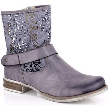Pantofi Femei Ghete Kimberfeel ANAELLE Gris