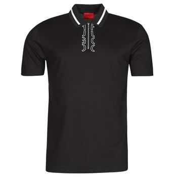 Îmbracaminte Bărbați Tricou Polo mânecă scurtă HUGO DOLMAR Negru / Alb
