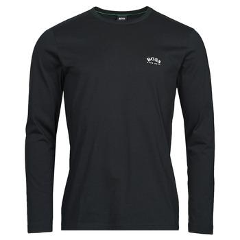 Îmbracaminte Bărbați Tricouri cu mânecă lungă  BOSS TOGN CURVED Negru