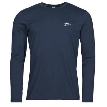 Îmbracaminte Bărbați Tricouri cu mânecă lungă  BOSS TOGN CURVED Albastru
