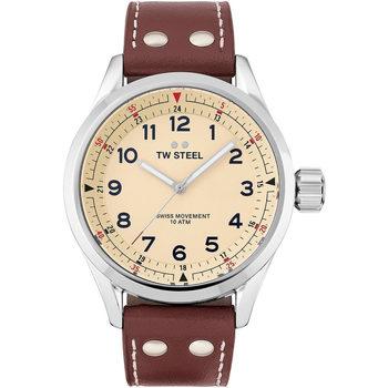 Ceasuri & Bijuterii Bărbați Ceasuri Analogice Tw-Steel SVS101, Quartz, 45mm, 10ATM Argintiu