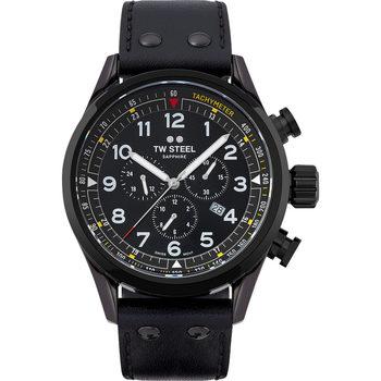 Ceasuri & Bijuterii Bărbați Ceasuri Analogice Tw-Steel SVS205, Quartz, 48mm, 10ATM Negru