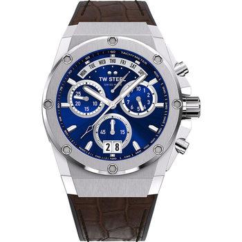 Ceasuri & Bijuterii Bărbați Ceasuri Analogice Tw-Steel ACE111, Quartz, 44mm, 20ATM Argintiu