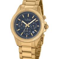 Ceasuri & Bijuterii Bărbați Ceasuri Analogice Jacques Lemans LP-111Q, Quartz, 42mm, 10ATM Auriu