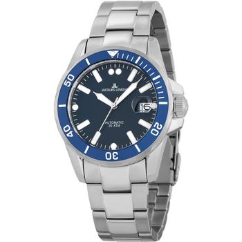 Ceasuri & Bijuterii Bărbați Ceasuri Analogice Jacques Lemans 1-2089G, Automatic, 42mm, 20ATM Argintiu