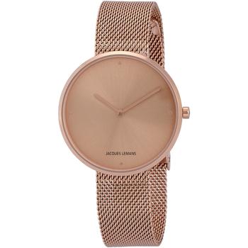 Ceasuri & Bijuterii Femei Ceasuri Analogice Jacques Lemans 1-2056N, Quartz, 36mm, 5ATM Auriu
