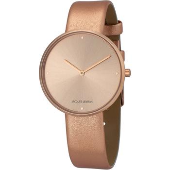 Ceasuri & Bijuterii Femei Ceasuri Analogice Jacques Lemans 1-2056I, Quartz, 36mm, 5ATM Auriu