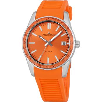Ceasuri & Bijuterii Bărbați Ceasuri Analogice Jacques Lemans 1-2060F, Quartz, 39mm, 10ATM Argintiu