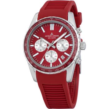 Ceasuri & Bijuterii Bărbați Ceasuri Analogice Jacques Lemans 1-2059E, Quartz, 39mm, 10ATM Argintiu