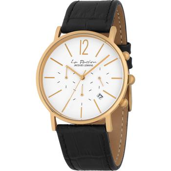 Ceasuri & Bijuterii Bărbați Ceasuri Analogice Jacques Lemans LP-123O, Quartz, 40mm, 5ATM Auriu