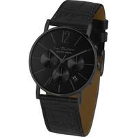 Ceasuri & Bijuterii Bărbați Ceasuri Analogice Jacques Lemans LP-123Q, Quartz, 40mm, 5ATM Negru