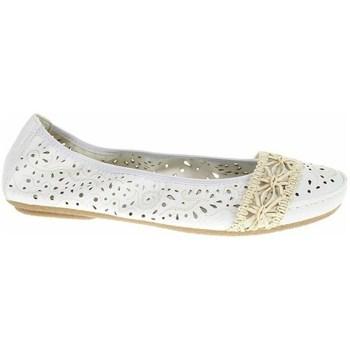 Pantofi Femei Balerin și Balerini cu curea Rieker 4146681 Alb