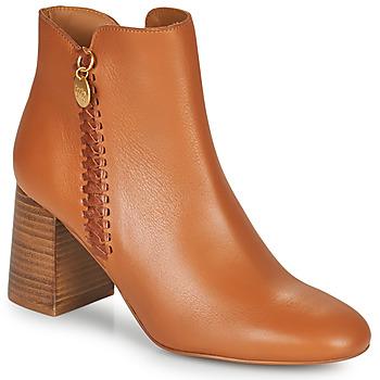 Pantofi Femei Botine See by Chloé LOUISEE Camel