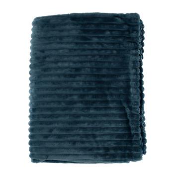 Casa Pături,cuverturi Sema FIMBRIA Albastru