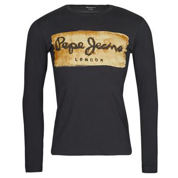 Îmbracaminte Bărbați Tricouri cu mânecă lungă  Pepe jeans CHARING LS Negru