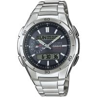 Ceasuri & Bijuterii Bărbați Cesuri Analogic- digital Casio WVA-M650D-1AER, Quartz, 44mm, 10ATM Argintiu