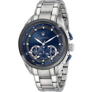 Ceasuri & Bijuterii Bărbați Ceasuri Analogice Maserati R8873612014, Quartz, 45mm, 10ATM Argintiu