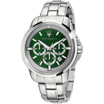 Ceasuri & Bijuterii Bărbați Ceasuri Analogice Maserati R8873621017, Quartz, 44mm, 5ATM Argintiu
