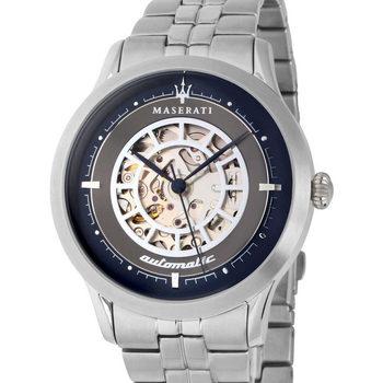 Ceasuri & Bijuterii Bărbați Ceasuri Analogice Maserati R8823133005, Automatic, 42mm, 5ATM Argintiu