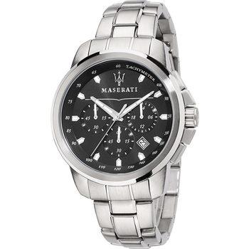 Ceasuri & Bijuterii Bărbați Ceasuri Analogice Maserati R8873621001, Quartz, 44mm, 5ATM Argintiu