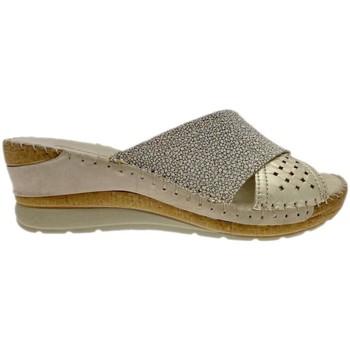 Pantofi Femei Papuci de vară Riposella RIP11246bei blu