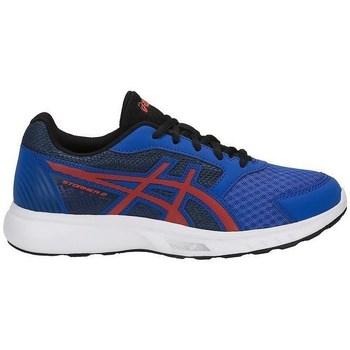 Pantofi Copii Fitness și Training Asics Stormer GS Roșii, Albastre
