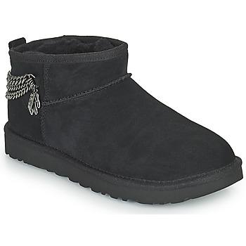 Pantofi Femei Ghete UGG Classic Ultra Mini Chains Negru