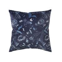 Casa Fețe pentru perne Broste Copenhagen BELL FLOWER Albastru / Night