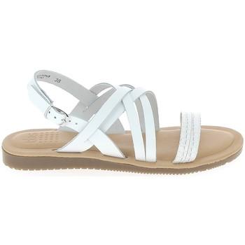 Pantofi Femei Sandale  TBS Blaudia Croco Blanc Alb