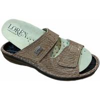 Pantofi Femei Papuci de vară Calzaturificio Loren LOM2829scuoio marrone