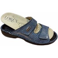 Pantofi Femei Papuci de vară Calzaturificio Loren LOM2829sjeans blu