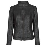 Îmbracaminte Femei Jachete din piele și material sintetic Desigual COMARUGA Negru