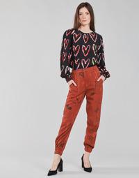 Îmbracaminte Femei Pantaloni fluizi și Pantaloni harem Desigual CAMOTIGER Roșu