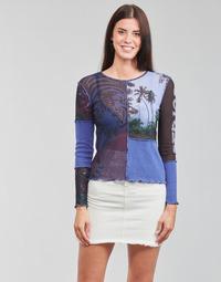 Îmbracaminte Femei Tricouri cu mânecă lungă  Desigual PATCHAFRICA Albastru