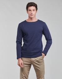 Îmbracaminte Bărbați Tricouri cu mânecă lungă  Armor Lux MARINIERE HOUAT HRX Albastru