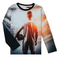 Îmbracaminte Băieți Tricouri cu mânecă lungă  Desigual FOOTBALL Gri