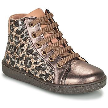 Pantofi Fete Pantofi sport stil gheata Bisgaard GAIA Leopard / Auriu