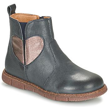 Pantofi Fete Ghete Bisgaard MAGGIE Albastru / Argintiu