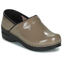 Pantofi Femei Saboti Sanita PROF Taupe