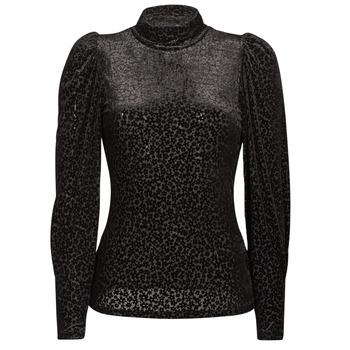 Îmbracaminte Femei Tricouri cu mânecă lungă  Morgan TISPI Negru