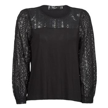 Îmbracaminte Femei Tricouri cu mânecă lungă  Deeluxe FRIDA Negru