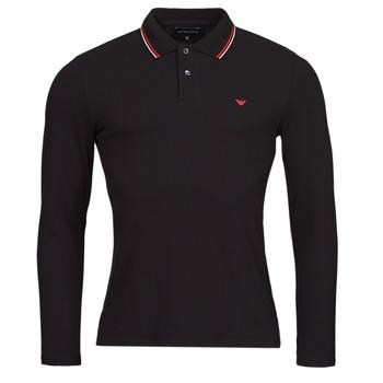 Îmbracaminte Bărbați Tricou Polo manecă lungă Emporio Armani 8N1FB5 Negru