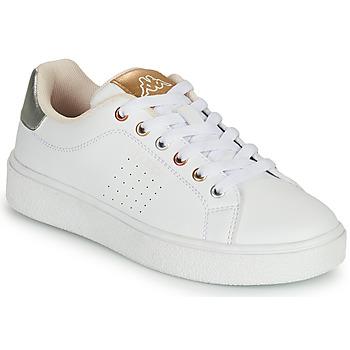 Pantofi Fete Pantofi sport Casual Kappa SAN REMO Alb / Auriu / Argintiu