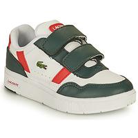 Pantofi Copii Pantofi sport Casual Lacoste T-CLIP 0121 2 SUI Alb / Verde / Roșu
