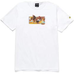 Îmbracaminte Bărbați Tricouri mânecă scurtă Huf T-shirt dhalsim ss Alb