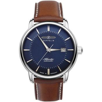 Ceasuri & Bijuterii Bărbați Ceasuri Analogice Zeppelin 8452-3, Automatic, 40mm, 5ATM Argintiu
