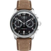 Ceasuri & Bijuterii Bărbați Ceasuri Analogice Zeppelin 8678-2, Quartz, 43mm, 5ATM Argintiu