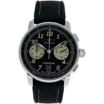 Ceasuri & Bijuterii Bărbați Ceasuri Analogice Zeppelin 8674-3, Quartz, 43mm, 5ATM Argintiu
