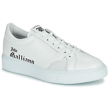 Pantofi Bărbați Pantofi sport Casual John Galliano MISSISSIPPI Alb